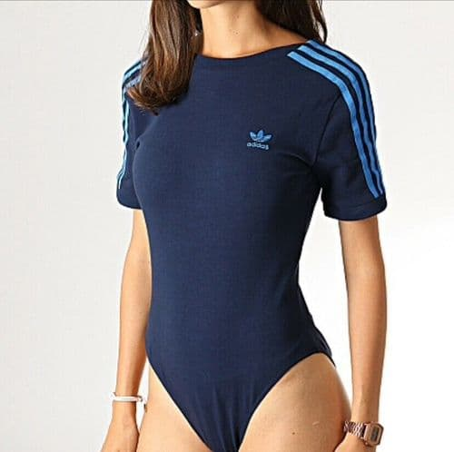 adidas Originals Bodysuit Short Sleeve Bodysuit Collegiate Navy EJ9348 BNWT